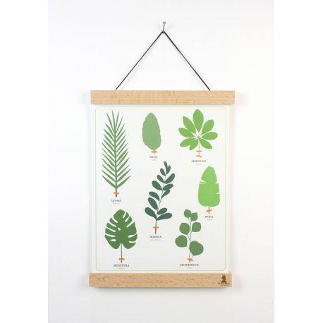Cadre affiche bois naturel