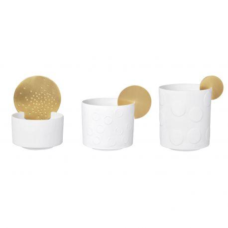 Porcelain and Brass Candle Holder Räder