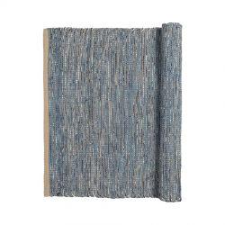 Tapis en Coton Bleu