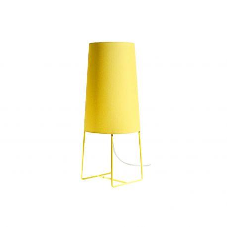 Lampe à poser jaune Fraumaier