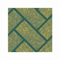 Green Herringbone Non-woven Napkins Françoise Paviot