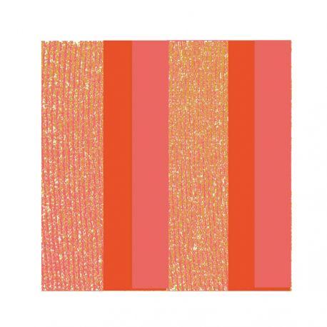 Nirvana Orange Non-woven Napkins Françoise Paviot