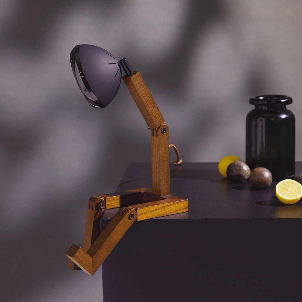 Lampe bonhomme noire   Lampe à poser Mr Wattson Piffany Copengagen