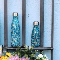 Blue Flowers Insulated Bottle Qwetch