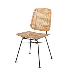 Laurel rattan and metal chair Bloomingville