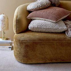 Coil Velvet Sofa Bloomingville