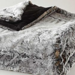 Faux Fur Fleece Blanket Cocooning