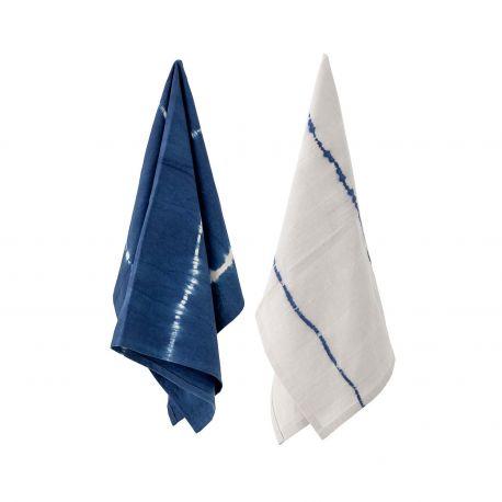 Torchons Bleu et Blanc Bloomingville