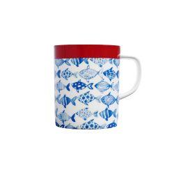 Porcelain mug Fish