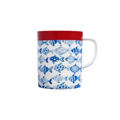 Mug en porcelaine Fish Remember
