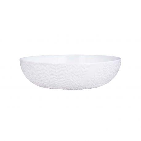 Porcelain Salad Bowl Leaves Räder