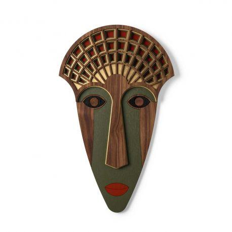 Masque en bois mural Mademoiselle U1 de Umasqu