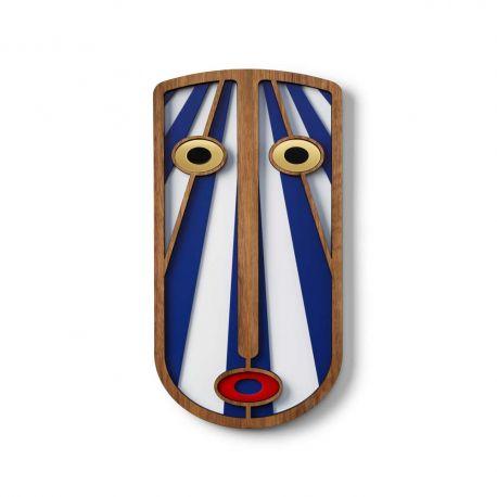 Masque bleu en bois Modern African 38