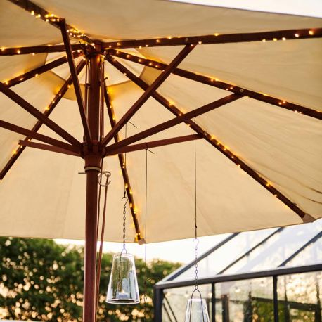 Guirlande lumineuse pour parasol Knirke