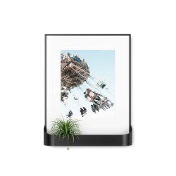 Cadre photo noir avec tablette Matinée