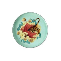 Tiger Flower Round Tray Gangzai