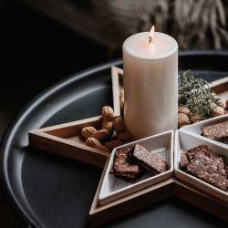 Porcelain & wood star dish Räder