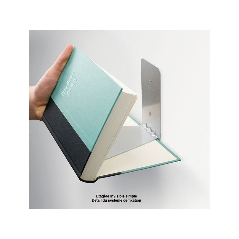 etag re fixation invisible etagere murale invisible pour livres. Black Bedroom Furniture Sets. Home Design Ideas
