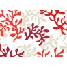 Red coral coated tablecloth