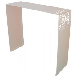 Console Cubical Blanche