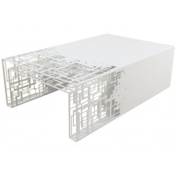 Design White Nesting Tables Cubical