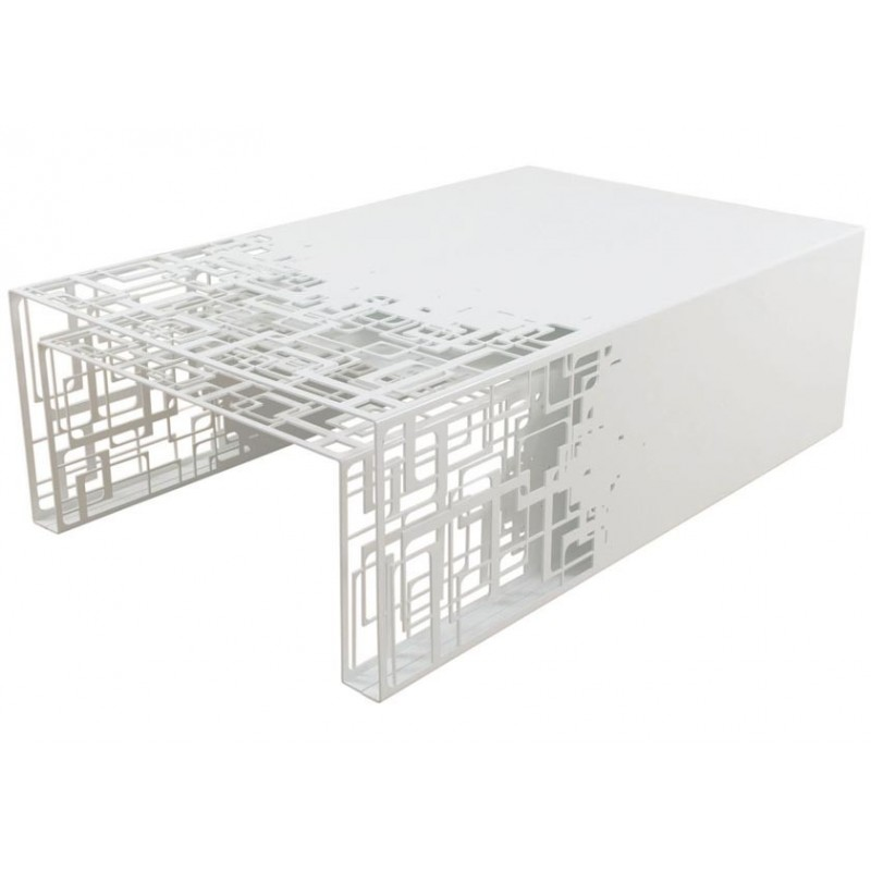 Tables Gigognes Design En Metal Blanc Cubical Par Coco Co