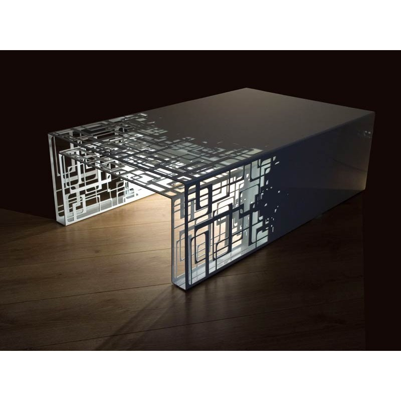 White design nesting tables Cubical in steel by french designers Coco & Co