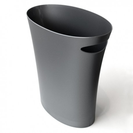 Silver grey Skinny wastebasket