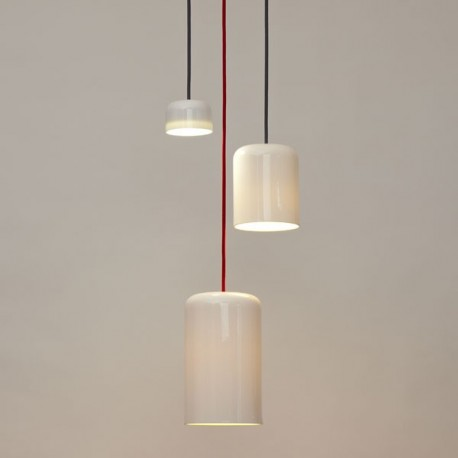 Suspension design blanche cable en couleur