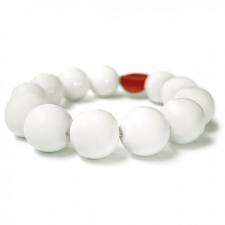 Dessous de plat blanc perles porcelaine