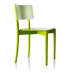 Chaise empilable verte