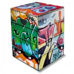 Tabouret  en carton Graffiti