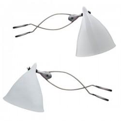 Lampe à pincer Cornette en porcelaine