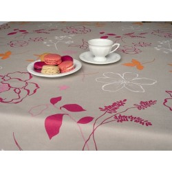 Raspberry Camellia tablecloth