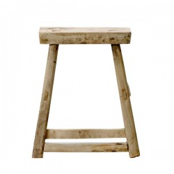 Raw elm stool