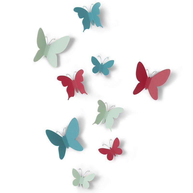 Deco Murale Papillons Stickers 3d Colores Par Umbra