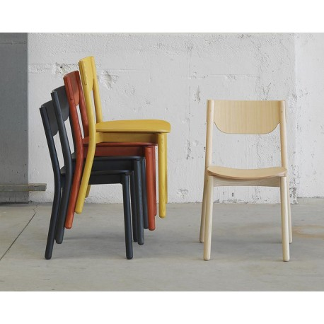 Wood stacking chair