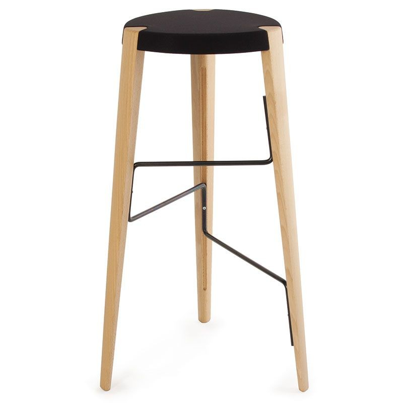 tabouret de bar design en bois tabouret sputnik par zilio. Black Bedroom Furniture Sets. Home Design Ideas