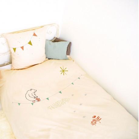 Circus quilt cover & pillowcase Mimilou