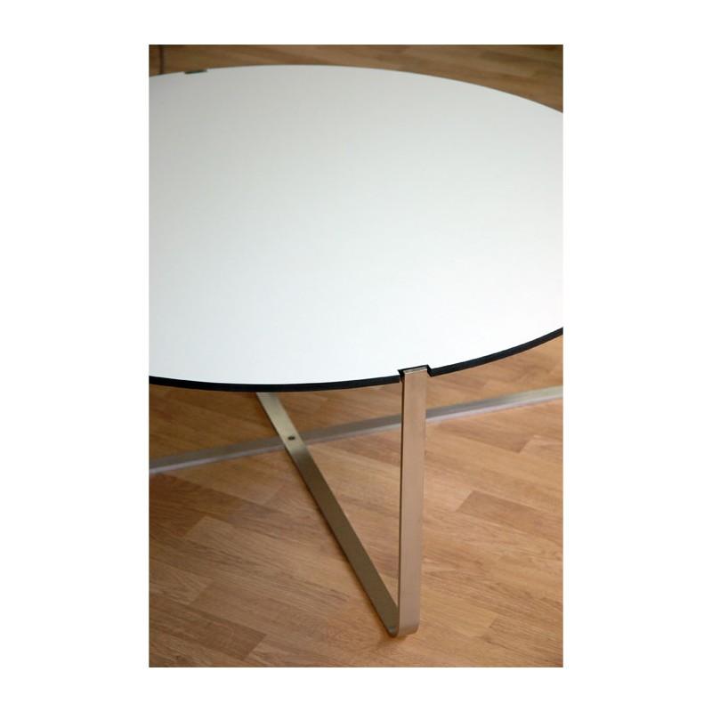 Table Basse Design Ronde C1 Blanche Pure Deco Design