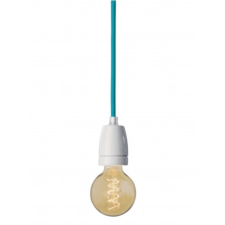 White socket hanging lamp