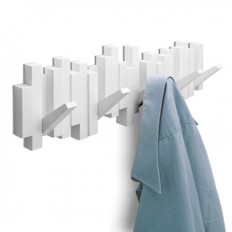 Sticks white coat rack
