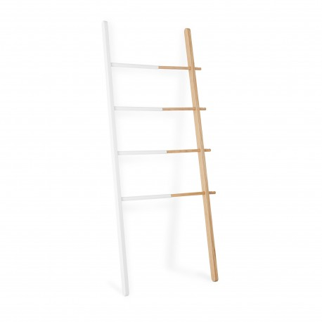 Design wooden white ladder Hub