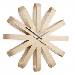 Ribbon wood Wall Clock