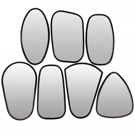 7 Miroirs cadre métal noir déco murale design Broste Copenhagen
