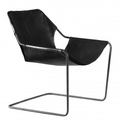 Paulistano leather armchair
