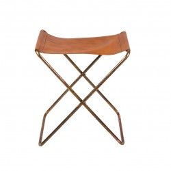 Leather folding stool Nola