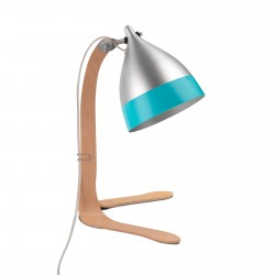 Cornette bi-coloured turquoise aluminium table lamp french design Tsé-Tsé