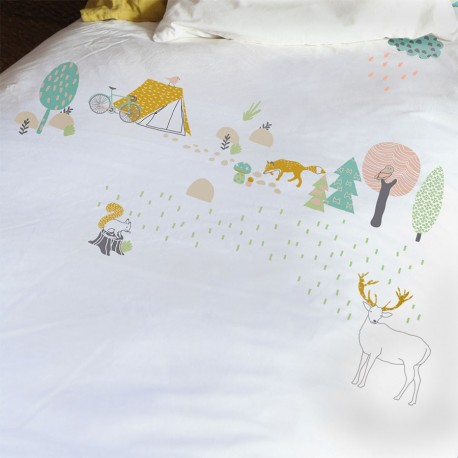 Forest quilt cover & pillowcase