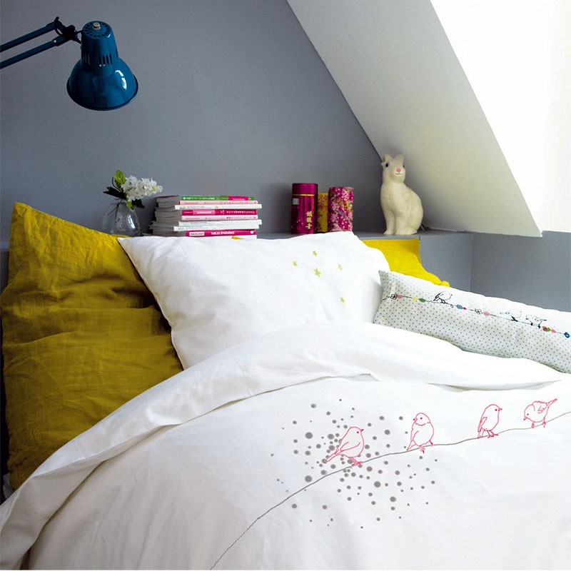 Housse Couette Taie Oiseaux